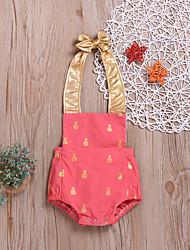 preiswerte -Baby Mädchen Aktiv / Grundlegend Druck Rückenfrei / Print Ärmellos Baumwolle / Polyester Body Orange