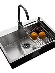 Недорогие -Kitchen Sink- 304 Нержавеющая сталь Матовый Прямоугольный Undermount Одиночная чаша