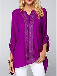 preiswerte -Damen Solide Bluse Spitze