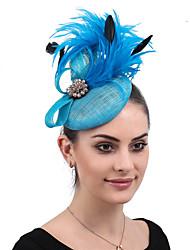 ราคาถูก -Flax / อะคริลิค / ขนนกเทียม fascinators / ดอกไม้ / เครื่องสวมศรีษะ กับ อคริลิค / ขนนก 1 ชิ้น งานแต่งงาน / งานปาร์ตี้ / งานราตรี หูฟัง