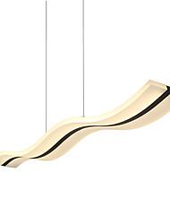 Недорогие -Lightinthebox Линейные Подвесные лампы Потолочный светильник Хром Акрил LED 90-240 Вольт Теплый белый / Белый / Wi-Fi Smart