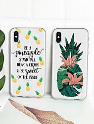 baratos -Capinha Para Apple iPhone XR / iPhone XS Max Estampada Capa traseira Fruta Macia TPU para iPhone XS / iPhone XR / iPhone XS Max