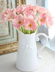 abordables -Fleurs artificielles 8.0 Une succursale Classique Elégant Style Simple Fleurs éternelles Coquelicot Fleur de Table