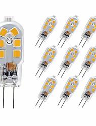 Недорогие -10 шт. 3 W 180 lm G4 Двухштырьковые LED лампы T 12 Светодиодные бусины SMD 2835 Милый 220-240 V