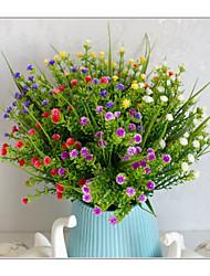 abordables -Fleurs artificielles 5 Une succursale Classique Accessoires de Scène style pastoral Plantes Gypsophila Fleurs éternelles Fleur de Table
