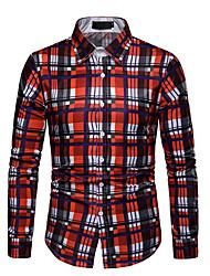 cheap -Men's Cotton Shirt - Plaid