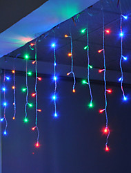 Недорогие -4 м 96 светодиодов занавес сосулька свет может быть связан с свет строки белый синий теплый белый розовый фиолетовый красный желтый желтый многоцветный 220-240 В 1 шт.