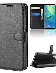 levne -Carcasă Pro Huawei Huawei P30 / Huawei P30 Pro Peněženka / Pouzdro na karty / Flip Celý kryt Jednobarevné Pevné PU kůže pro Huawei P20 / Huawei P20 Pro / Huawei P20 lite