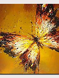 levne -Hang-malované olejomalba Ručně malované - Abstraktní Pop Art Moderní Obsahovat vnitřní rám