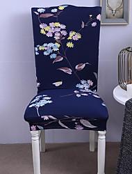 זול -כיסוי לכיסא צמחים / פרחוני / דפוס חוט צבוע / הדפס פוליאסטר כיסויים