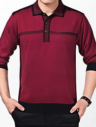 halpa -Miesten Paitapuserokaula-aukko Color Block T-paita