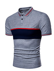 billiga -mans polo-color block tröja krage