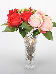 levne -Umělé květiny 1 Větev Klasické Jevištní doplňky Evropský Růže Věčné květy Květina na stůl