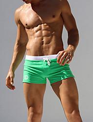 Недорогие -Муж. Зеленый Черный Темно синий Мальчик ноги Трусики, шорты и т.д. Купальники - Геометрический принт L XL XXL Зеленый / Сексуальные платья