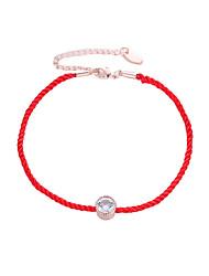 Недорогие -Жен. лодыжке браслет украшения для ног Классический Простой Ножной браслет Бижутерия Красный Назначение Свидание Для клуба фестиваль