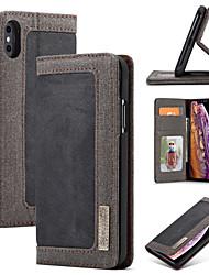 Недорогие -Nillkin Кейс для Назначение Apple iPhone X / iPhone XS Max Кошелек / Бумажник для карт / со стендом Чехол Однотонный Твердый Кожа PU для iPhone XS / iPhone XR / iPhone XS Max