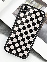 preiswerte -Hülle Für Apple iPhone X / iPhone XS Muster Ganzkörper-Gehäuse Geometrische Muster Hart Acryl für iPhone XS / iPhone XR / iPhone XS Max