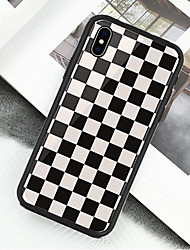 Недорогие -Кейс для Назначение Apple iPhone X / iPhone XS С узором Чехол Геометрический рисунок Твердый Акрил для iPhone XS / iPhone XR / iPhone XS Max
