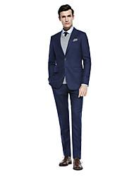 billiga -Kaffe / Mörkgrå / Mörk Marin Enfärgad Standardpassform Kostym - Sjal Singelknäppt Två knappar