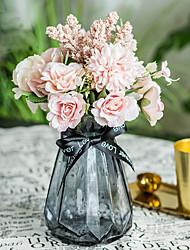 levne -Umělé květiny 1 Větev Klasické Svatba Svatební kytice Hortenzie Věčné květy Květina na stůl
