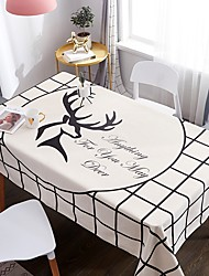 رخيصةأون -كلاسيكي كاجوال 120g / m2 البوليستر الإمتداد حك تمساح مربع قماش الطاولة منقوشة طبع مقاوم للماء زهور الجدول ديكورات