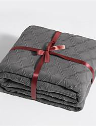 abordables -Mantas multifuncionales, Simple / Ajedrez / Clásico Punto / Algodón Calentador Borla Suave mantas