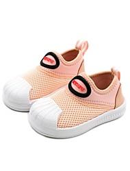 halpa -Tyttöjen Kengät Silmukka Kevät Comfort / Ensikengät Mokkasiinit varten Vauvat Musta / Pinkki