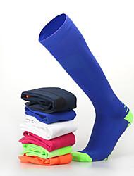 Недорогие -Муж. Жен. Носки для велоспорта компрессия Носки Дышащий Противозаносный Мягкий Впитывает пот и влагу Поддерживает Оранжевый + белый Голубой + оранжевый Голубой + Желтый Лайкра Зима / Эластичная