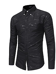 cheap -Men's Shirt - Geometric Print