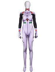 preiswerte -Zentai Anzüge Cosplay Erwachsene Cosplay Kostüme Halloween Weiß Elastan Lycra® Damen Halloween Karneval Maskerade