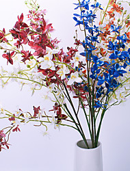 povoljno -Umjetna Cvijeće 1 Podružnica Klasični Rekviziti Europska Orhideje Vječni cvjetovi Cvjeće za stol