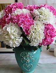 abordables -Fleurs artificielles 1 Une succursale Classique Européen style pastoral Hortensias Fleurs éternelles Fleur de Table