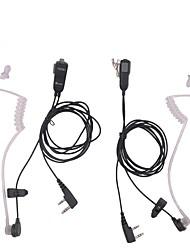 Недорогие -микрофон гарнитура рация гарнитура для kenwood для радиоустройств baofeng 2pin 2шт