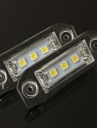 Недорогие -2pcs Автомобиль Лампы SMD 5050 / SMD LED 3 Светодиодная лампа Подсветка для номерного знака Назначение Volvo V50 / S40 / C70 Все года