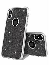 preiswerte -Hülle Für Apple iPhone XS / iPhone 7 Stoßresistent / Mattiert / Glänzender Schein Rückseite Glänzender Schein Hart TPU / PC für iPhone XS / iPhone X / iPhone 8 Plus