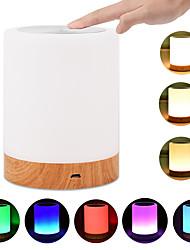 Недорогие -Новые регулируемые светодиодные красочные творческие зарядки ночной свет новизна подарки сенсорный затемняемый светильник для праздника рождественские украшения