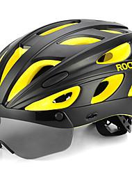 Недорогие -ROCKBROS Взрослые Мотоциклетный шлем 18 Вентиляционные клапаны Легкий вес Вентиляция Формованный с цельной оболочкой прибыль на акцию ПК Виды спорта Велосипедный спорт / Велоспорт -