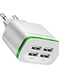 Недорогие -Зарядное устройство USB -- 4 Настольная зарядная станция Новый дизайн Евро стандарт Адаптер зарядки