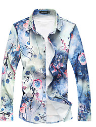 cheap -Men's Cotton Shirt - Floral