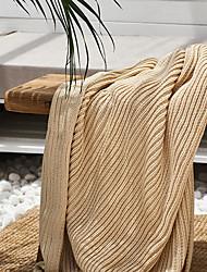 Χαμηλού Κόστους -Πολύ λειτουργικές κουβέρτες, Μονόχρωμο Πλεκτό Θερμαντικό Φούντα Comfy κουβέρτες