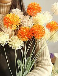 זול -פרחים מלאכותיים 1 ענף קלאסי סגנון מינימליסטי פסטורלי סגנון צמחים פרחים לשולחן