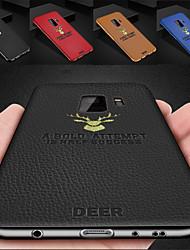billiga -fodral Till Samsung Galaxy S9 Plus / S9 Plätering / Ultratunt / Mönster Skal Enfärgad Hårt PU läder för S9 / S9 Plus / S8 Plus