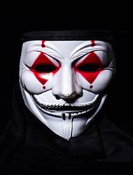 Недорогие -V — значит вендетта Маски Взрослые Муж. Хэллоуин Хэллоуин Маскарад Фестиваль / праздник Пластик Черный / Красный Карнавальные костюмы Контрастных цветов