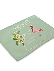 cheap -Contemporary Nonwoven Square Placemat Patterned Eco-friendly Table Decorations 1 pcs