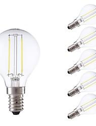 رخيصةأون -GMY® 6PCS 2 W 250/200 lm E12 / E14 مصابيحLED P45 2 الخرز LED COB ديكور أبيض دافئ / أبيض كول 220-240 V