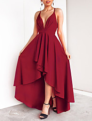 95e65a148f7 Maxi Dress A-Line Plunging Neck Floor Length Chiffon Dress with Tier by LAN  TING Express