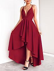 Недорогие -А-силуэт Погруженный декольте В пол Шифон Платье с Слои юбки от LAN TING Express