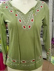 hesapli -Kadın ince tişört - düz renkli yuvarlak boyun