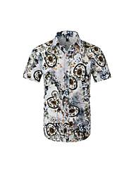Недорогие -Муж. С принтом Рубашка Графика / Этно