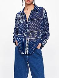 billige -Dame - Blomstret / 3D Trykt mønster Bluse